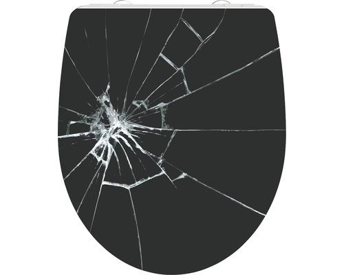 WC-Sitz Schütte Broken Glass mit Absenkautomatik