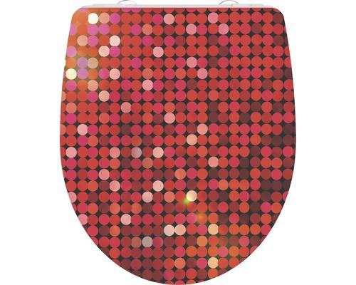 WC-Sitz Schütte Red Glitter mit Absenkautomatik
