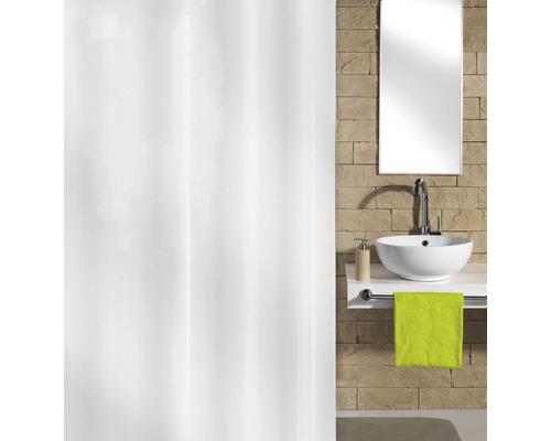 Duschvorhang Hool-On Textil 180x200 cm weiß