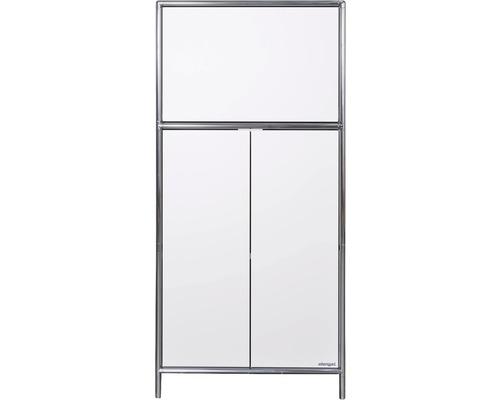 Schranksystem Stengel 62x130x42 cm 2 Türen 1 Fachboden und 1 große Schubladen weiß
