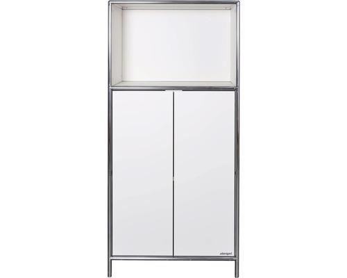 Schranksystem Stengel 62x130x42 cm 2 Türen 1 Fachboden und 1 Fach offen weiß