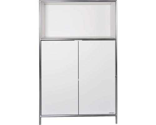 Schranksystem Stengel 82x130x42 cm 2 Türen 1 Fachboden und 1 Fach offen weiß