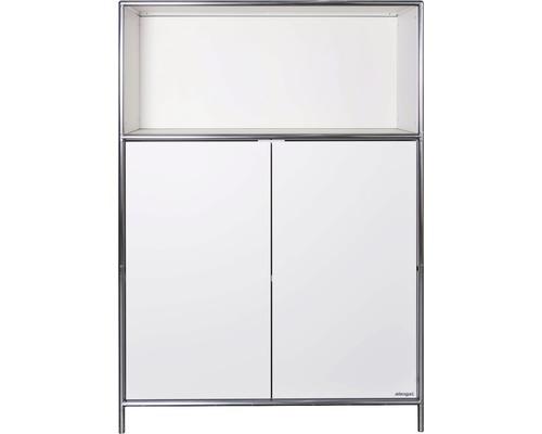 Schranksystem Stengel 92x130x42 cm 2 Türen 1 Fachboden und 1 Fach offen weiß