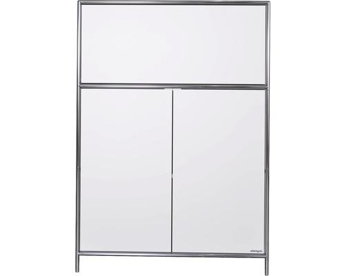 Schranksystem Stengel 92x130x42 cm 2 Türen 1 Fachboden und 1 große Schubladen weiß