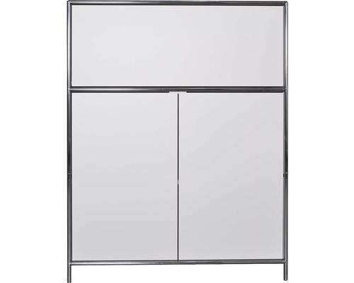 Schranksystem Stengel 102x130x42 cm 2 Türen 1 Fachboden und 1 große Schubladen weiß