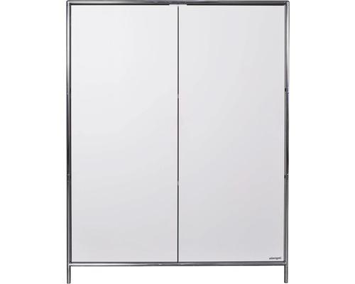 Schranksystem Stengel 102x130x42 cm 2 Türen und 2 Fachböden weiß