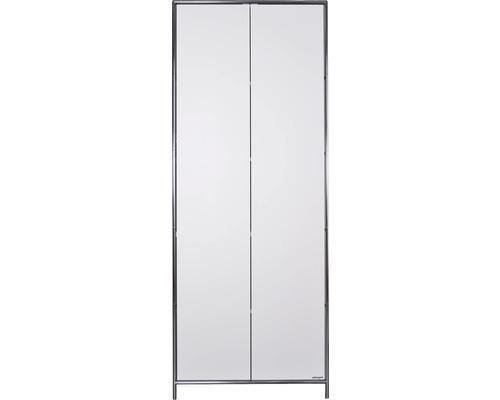 Schranksystem Stengel 82x210x42 cm 2 Türen und 3 Fachböden weiß