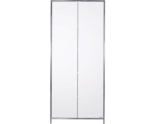 Schranksystem Stengel 92x210x42 cm 2 Türen und 3 Fachböden weiß