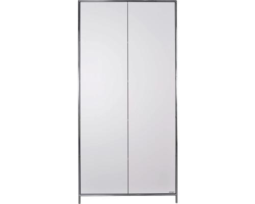 Schranksystem Stengel 102x210x42 cm 2 Türen und 3 Fachböden weiß