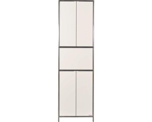 Schranksystem Stengel 62x210x42 cm 4 Türen 2 Fachböden 1 große Schubladen weiß