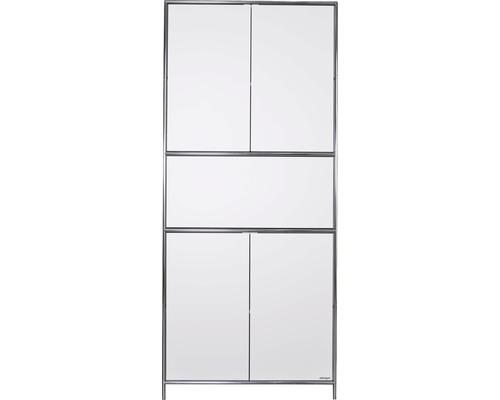 Schranksystem Stengel 92x210x42 cm 4 Türen 2 Fachböden 1 große Schubladen weiß