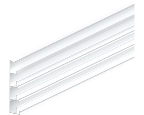 Montageschiene Clik-Fix 17 PVC weiß 82x19x2400 mm