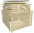 Saunahaus Karibu Zirkon 1 inkl.9 kW Ofen u.ext.Steuerung mit Vorraum und Holztüre mit Klarglas