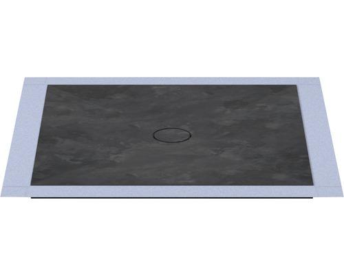 Bodengleiches Duschelement Wesko Trentino 100x100x5,4 cm lavastein