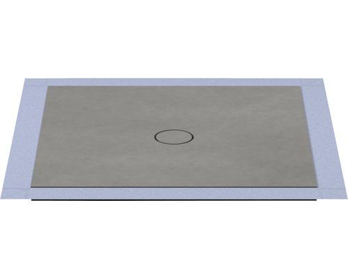 Bodengleiches Duschelement Wesko Trentino 100x100x5,4 cm spaltgestein