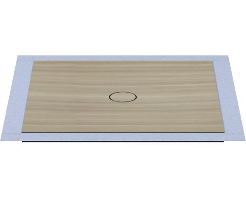 Bodengleiches Duschelement Wesko Trentino 100x100x5,4 cm edelesche