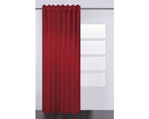 Vorhang mit Universalband Velvet bordeaux 140x280 cm