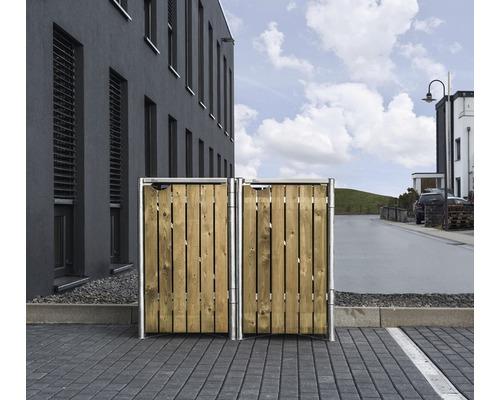 Mülltonnenbox HIDE Holz 121x63,4x115,2 cm natur