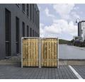 Mülltonnenbox HIDE Holz 139,4x80,7x115,2 cm natur