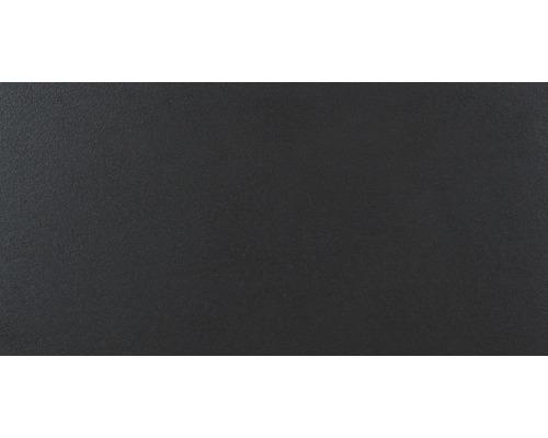 Feinsteinzeug Bodenfliese Daly Vulcano schwarz 30x60 cm rektifiziert
