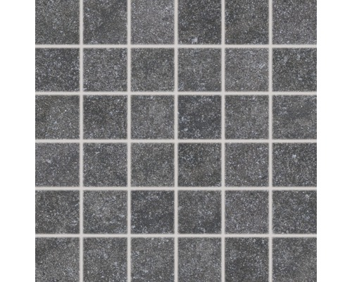Feinsteinzeugmosaik Udine schwarz ungl. 30x30 cm