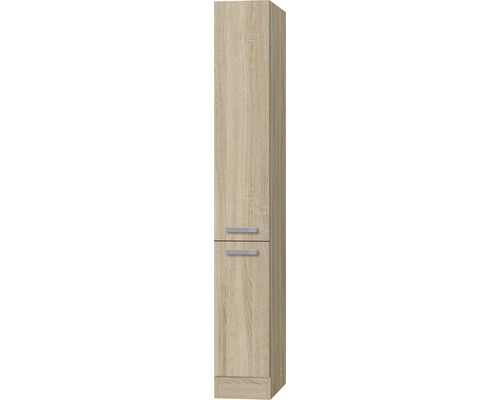 Apothekerschrank Optifit Neapel Breite 30 cm KUNA HFZ306-9+ Nachbildung Eiche-hell sägerau