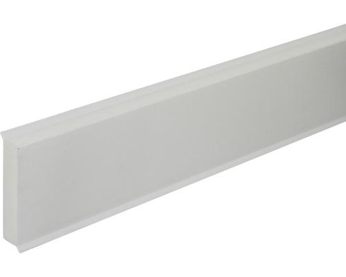 Sockelleiste PVC hellgrau 12x58x2500 mm