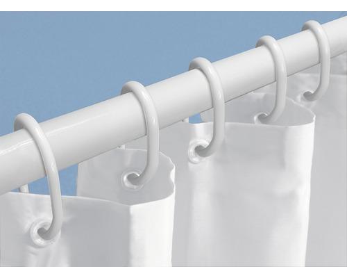 Duschset 3-teilig weiß 125-200 cm