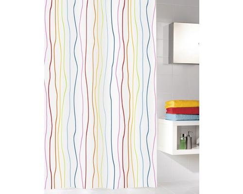 Duschvorhang Jolie Textil multicolor 120x200 cm