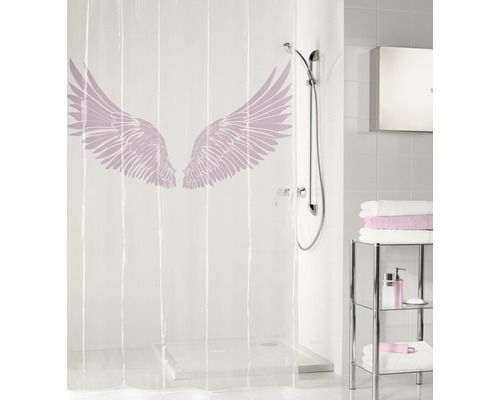 Duschvorhang PEVA Wings Flamingo 180x200 cm