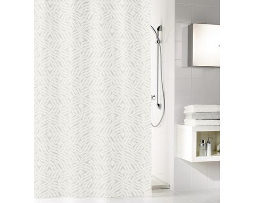 Duschvorhang Style Textil silbergrau 180x200 cm