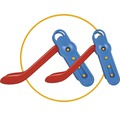Rutsche BIG Fun-Slide Kunststoff mit Leiter rot
