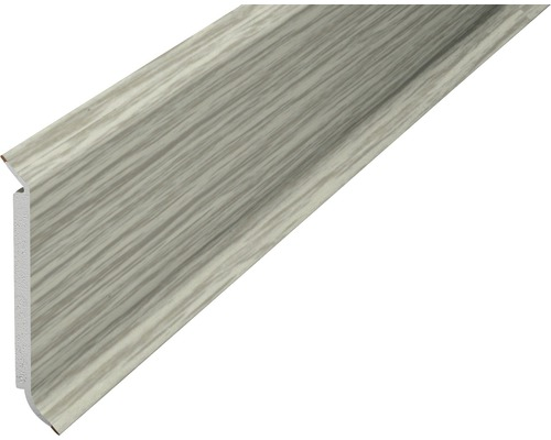 Kernsockelleiste PVC eiche grau 15x60x2500 mm