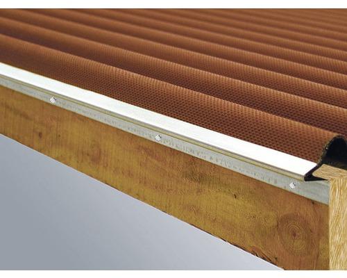 Ortgang-Profil verzinkt für Bitumenwellplatten Länge 2000 x 20 mm
