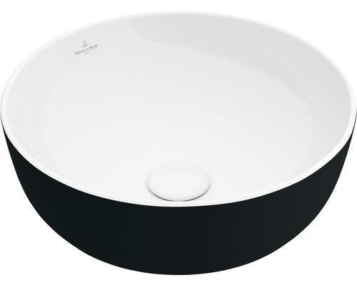 Aufsatzwaschbecken Villeroy & Boch Artis 43 cm rund weiß/schwarz