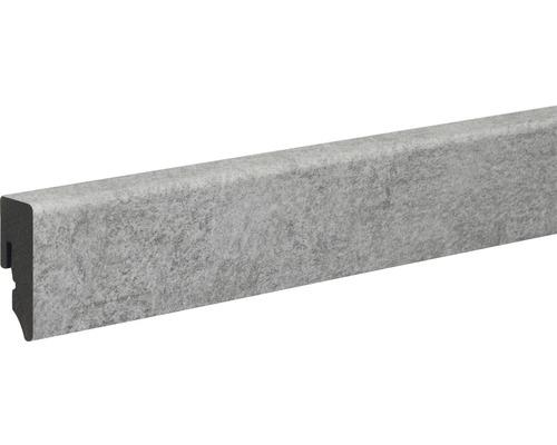 Sockelleiste PVC matt grau foliert 15x39x2400 mm