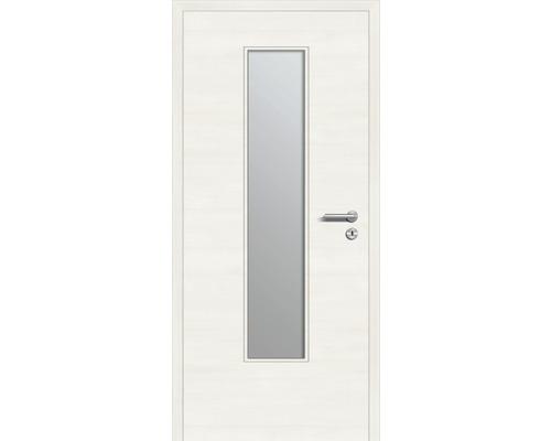Innentüre DONAU Soft Plus stumpf bianco quer inkl. Lichtausschnitt (ohne Glas) 87,2x201,6 cm links