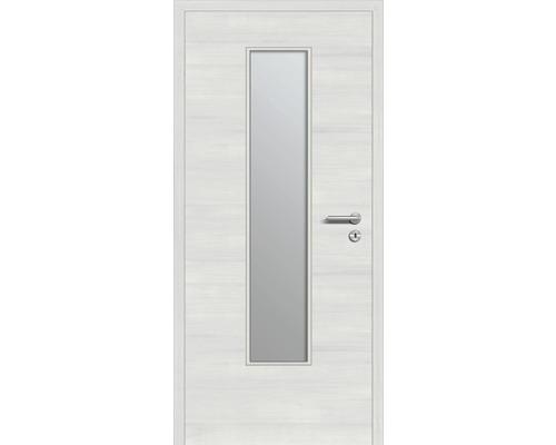 Innentüre DONAU Soft Plus stumpf grigio quer inkl. Lichtausschnitt (ohne Glas) 77,2x201,6 cm links