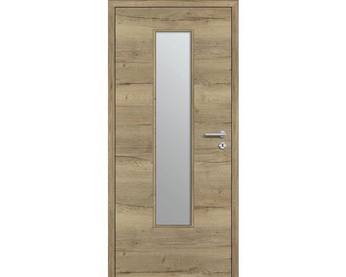 Innentüre DONAU Soft Plus stumpf risseiche inkl. Lichtausschnitt klein (ohne Glas) 92,2x201,6 cm links