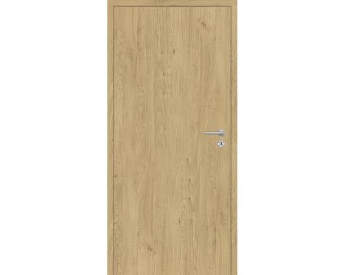 Innentüre DONAU Soft Plus stumpf natura eiche längs 77,2x201,6 cm links