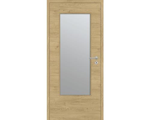 Innentüre DONAU Soft Plus stumpf natura eiche quer inkl. Lichtausschnitt groß (ohne Glas) 97,2x201,6 cm links