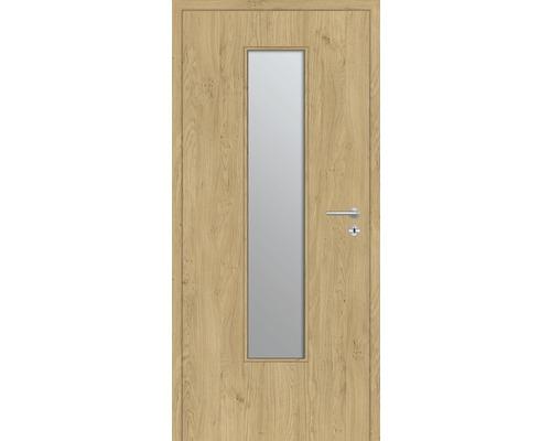 Innentüre DONAU Soft Plus stumpf natura eiche längs inkl. Lichtausschnitt klein (ohne Glas) 97,2x201,6 cm links