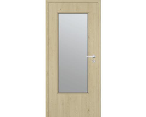 Innentüre DONAU Soft Plus stumpf natura ahorn längs inkl. Lichtausschnitt (ohne Glas) 77,2x201,6 cm links