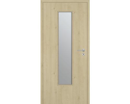 Innentüre DONAU Soft Plus stumpf natura ahorn längs inkl. Lichtausschnitt schmal (ohne Glas) 82,2x201,6 cm links