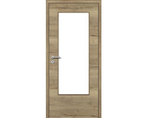 Innentüre DONAU Soft Plus stumpf risseiche inkl. Lichtausschnitt groß (ohne Glas) 77,2x201,6 cm rechts