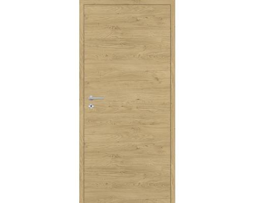 Innentüre DONAU Soft Plus stumpf natura eiche quer 82,2x201,6 cm rechts