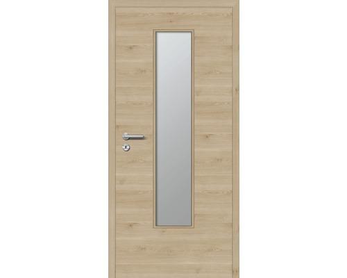 Innentüre DONAU Soft Plus stumpf achat quer inkl. Lichtausschnitt (ohne Glas) 77,2x201,6 cm rechts
