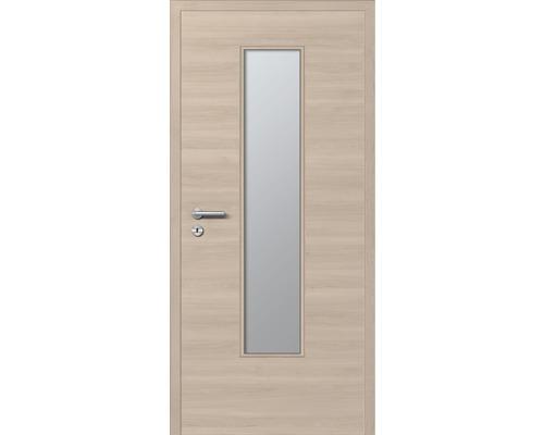 Innentüre DONAU Soft Plus stumpf arena quer inkl. Lichtausschnitt (ohne Glas) 82,2x201,6 cm rechts