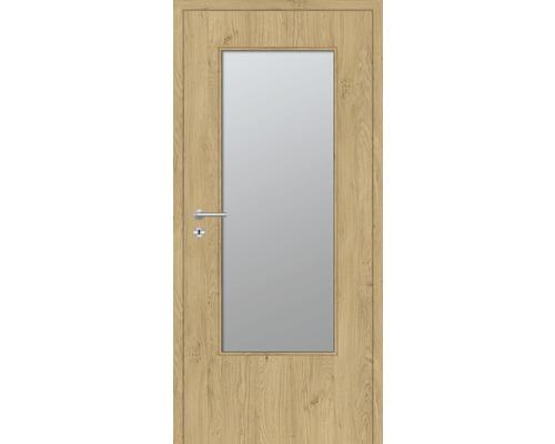Innentüre DONAU Soft Plus stumpf natura eiche längs inkl. Lichtausschnitt groß (ohne Glas) 92,2x201,6 cm rechts