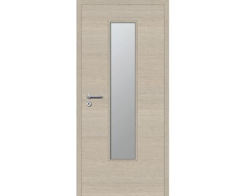Innentüre DONAU Soft Plus stumpf akazie quer inkl. Lichtausschnitt (ohne Glas) 77,2x201,6 cm rechts